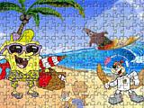 Губка Боб охрана пляжа