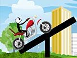 Стикмен Джим на мотоцикле