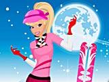 Зимняя Барби: одевалки