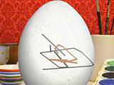 Разрисуй пасхальное яйцо