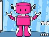 Красивая робот-девушка