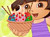 Дора: украшение мороженого