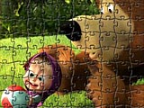 Пазлы: Маша и медведь