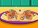 Тортилья с креветками: канапе