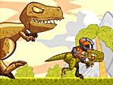 Бег всадника динозавра