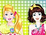 Барби и Элли: подготовка к ночной вечеринке