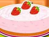Сливочный пирог с клубникой и мятой