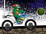 Черепашки ниндзя на мотоцикле: вызов