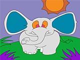 Слон: раскраска