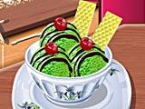 Кухня Сары мороженое с зеленым чаем