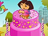 День рождение Доры: украшение торта