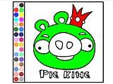 Король плохих свиней: раскраска