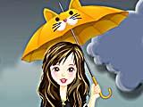Дождливый день: макияж
