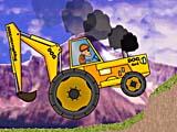 Трактор-экскаватор: езда