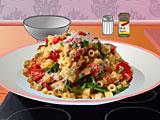 Бекон, салат и томатная паста