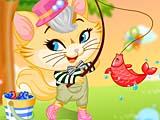 Рыбалка непослушного котенка