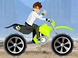 Бен 10: ускорение на мотоцикле