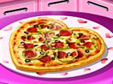 Кухня Сары пицца на День святого Валентина