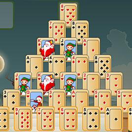 Новогодняя Пирамида: новогодний пасьянс