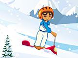 Диего на скутере с горы