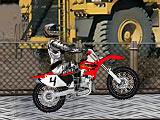 Индустриальные трюки на мотоцикле