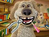 Говорящий пес Бен у стоматолога