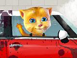 Говорящая Джинджер моет машину