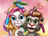 Реальные прически говорящего кота Том и Анжелы
