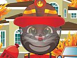 Говорящий кот Том пожарный
