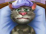Говорящий кот Том заболел