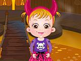 Малышка Хейзел в Хэллоуин замке