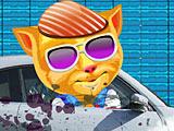 Рыжик моет автомобиль