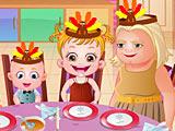 Малышка Хейзел на День Благодарения
