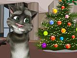 Говорящий кот Том готовится к Новому Году