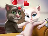 Говорящий Том и Анжела целуются