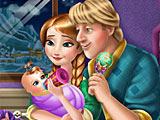 Холодное сердце: Анна и Кристоф кормят малыша