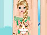 Холодное сердце: Эльза ухаживает за котом