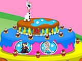 Холодное сердце: торт на день рождения Олафа