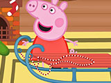 Свинка Пеппа на санках