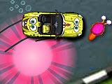Губка Боб на машине