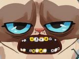 Сердитый кот лечит зубы