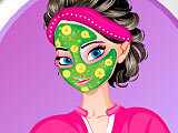 Холодное сердце: банановый макияж Эльзы
