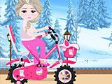 Холодное сердце: Эльза моет велосипед