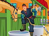 Холодное сердце: Кристоф убирает в конюшне