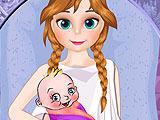 Анна рожает ребенка