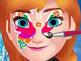 Рисовать на лице Анны