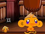 Счастливая обезьянка ниндзя