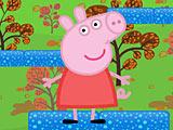 Свинка Пеппа прыгает вверх
