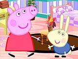 Свинка Пеппа украшает комнату