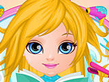 Малышка Барби в парикмахерской Холодное сердце